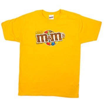 M&M's Candy Distressed Logo T-Shirt - Peanut - Adult - Large