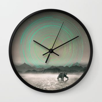 Spinning Out of Nothingness Wall Clock by Soaring Anchor Designs | Society6