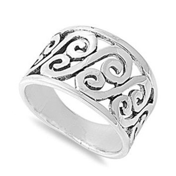 925 Sterling Silver Victorian Ingenuity Ring