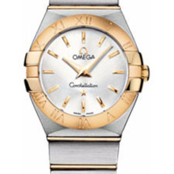 Omega - Constellation Quartz 27 mm - Brushed Steel and Yellow Gold