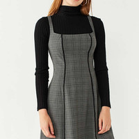 UO Sherrie Square-Neck Fit + Flare Dress | Urban Outfitters