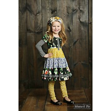 2018 Fall Mustard Pie Blue English Whisper Dress