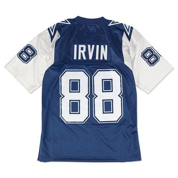 CREYNW6 Mitchell Ness Michael Irvin 1995 Authentic Jersey Dallas Cowboys In Blue