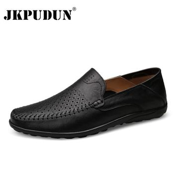 Men's Italian Casual Luxury Loafers Genuine Leather Moccasins Shoes