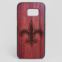 New Orleans Saints Galaxy S7 Edge Case - All Wood Everything