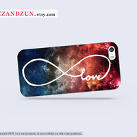 INFINITY of LOVE over SPACE iPhone 5 case iPhone 4s case infinity iphone 5s case personalized phone case love forever iphone case Hard case