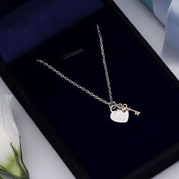 Tiffany new heart key necklace high quality DCCK