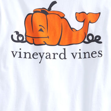 Long-Sleeve Pumpkin Whale Pocket T-Shirt