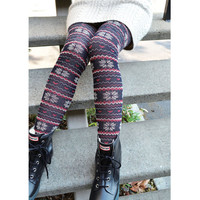 """Jacquard Snow Flakes"" Fashion Tights"