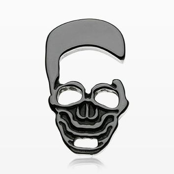A Pair of Death Skull Black Acrylic Hanger Plug