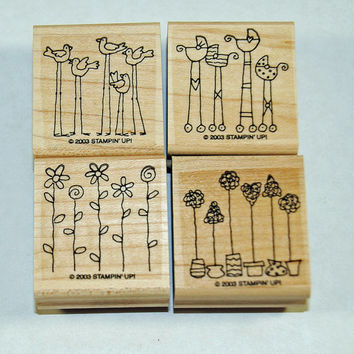 """Stampin Up Stamp Set """"Simple Somethings"""" Rubber Stamps Mint Unused Set and Retired"""