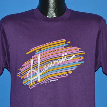 80s Hawaii Cursive Rainbow t-shirt Medium