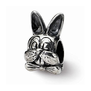 Sterling Silver s Easter Bunny Bead by Reflection Beads