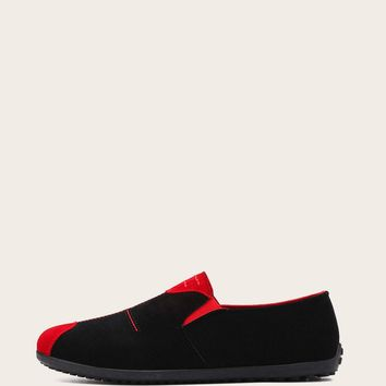 Men Two Tone Cap Toe Loafers