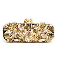 ALEXANDER MCQUEEN | Embroidered Swarovski Crystal Box Clutch | Browns fashion & designer clothes & clothing