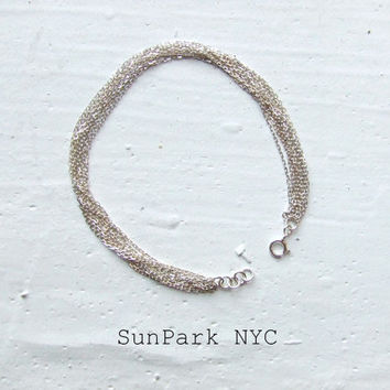Delicate Sterling Silver Layer Chain Bracelet/ Dainty/Layer Chain/Delicate Bracelet/Stackable Bracelet/Layered Bracelet/Thin Bracelet