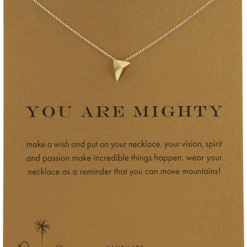 """Dogeared You Are Mighty Pyramid Gold Dipped 16"""" Reminder Boxed Necklace"""