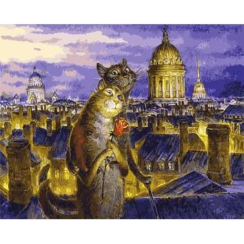 The latest Frameless Cat lovers Pictures Painting By Numbers DIY Digital Oil Painting On Canvas Europe Home Decoration Wall Art