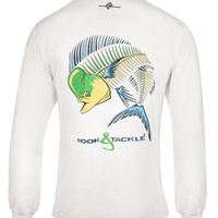 Men's Dolphin Action X-Ray L/S UV Fishing T-Shirt