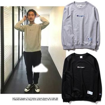 Winter Simple Design Embroidery Hoodies [23291068435]