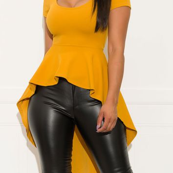 Waiting For You Blouse Mustard