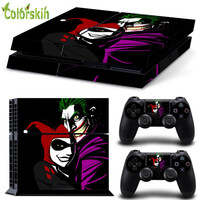 The Joker and Harley Quinn skin sticker for ps4 vinyl protective cover for ps4 console for ps4 controller skin