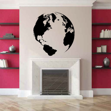 The Earth Globe Vinyl Wall Decal Sticker Graphic