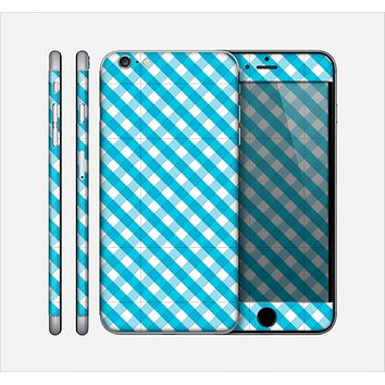 The Subtle Blue & White Plaid Skin for the Apple iPhone 6 Plus
