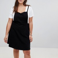 ASOS CURVE Mini Pinafore Dress with Strappy Back at asos.com