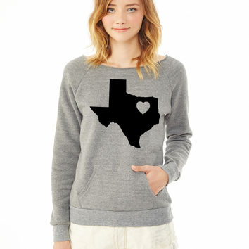 Texas Heart ladies sweatshirt