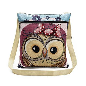 Cartoon Owl Lovely Style Crossbody Bag Shoulder Bags