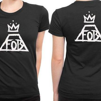 Fall Out Boy Black And White 2 Sided Womens T Shirt