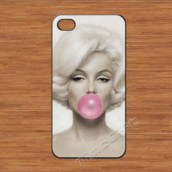 Marilyn Monroe iPhone 4 Case,Marilyn Monroe Bubble Gum iPhone 4 4g 4s Hard Case,cover skin case for iphone 4/4g/4s case,More styles for you