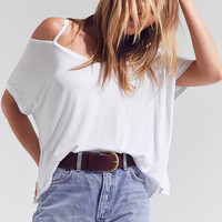 Silence + Noise Split-Cut Cold Shoulder Tee | Urban Outfitters