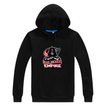 Asian Size 2017 Blue Jackets Empire  Star Wars Darth Vader Men Sweashirt Women Columbus warm hoodies 0105-1