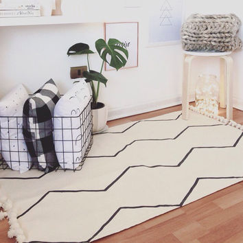Minimalist rug, Nordic decor,christmas gifts ideas,nordic rug,bohemian rug,Scandinavian decor,modern rug,swedish decor