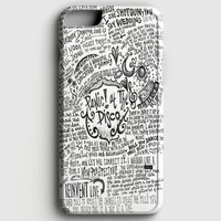 Panic! At The Disco Lyric 3 Cover iPhone 6/6S Case