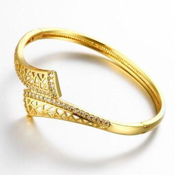 Z012-A Good Quality Nickle Free AntiallergicNew Fashion Jewelry 24K Gold Plated Bracelets