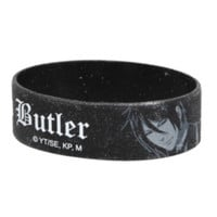Black Butler Hell Of A Butler Rubber Bracelet