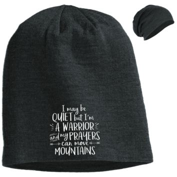 I May be Quiet Slouch Beanie