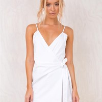 Leah Bell Playsuit White