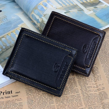 New Casual Men Billfold Leather Long Design Billfold Check Card Wallet  7_S (Color: Coffee) = 1914127044