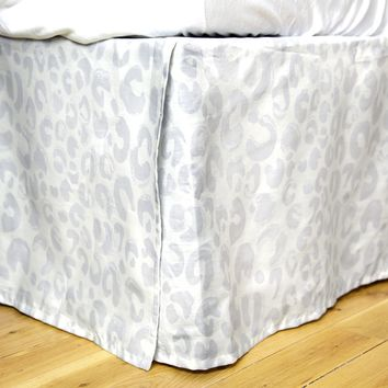 Snow Leopard Bed Skirt