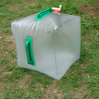 20L Portable PVC Folding Water Bag Outdoor Camping Folding Water Bucket free shipping