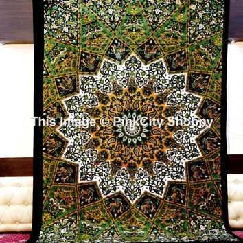 Twin Mandala Tapestries bohemian wall hanging wall tapestries boho mandala tapestries indian tapestries ethnic decor art beach throw blanket