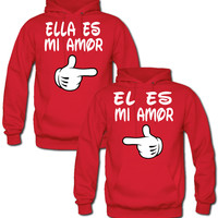 ELLA ES MI AMOR EL ES MI AMOR COUPLE HOODIES MATCHING COUPLE HOODIES