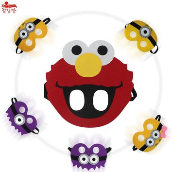 Special Child Elmo mask Cartoon Cosplay Face Mask girl dress brand Minions costume character birthday party pokemon costumes