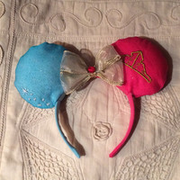 Unique Princess Aurora Sleeping Beauty Minnie Mouse Ears Headband