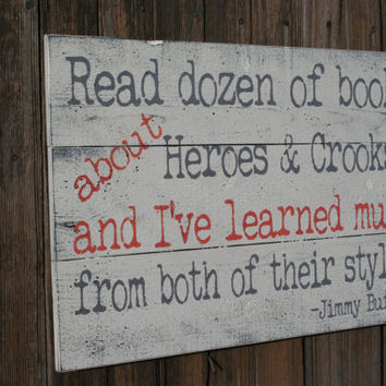 Nursery Wall Decor Read Dozens Of Books Jimmy Buffet Quote Library Wall Sign Pallet Sign Primitive Wood Sign Shabby Chic Vintage Wood Sign