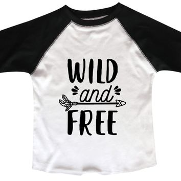 Wild And Free BOYS OR GIRLS BASEBALL 3/4 SLEEVE RAGLAN - VERY SOFT TRENDY SHIRT B973